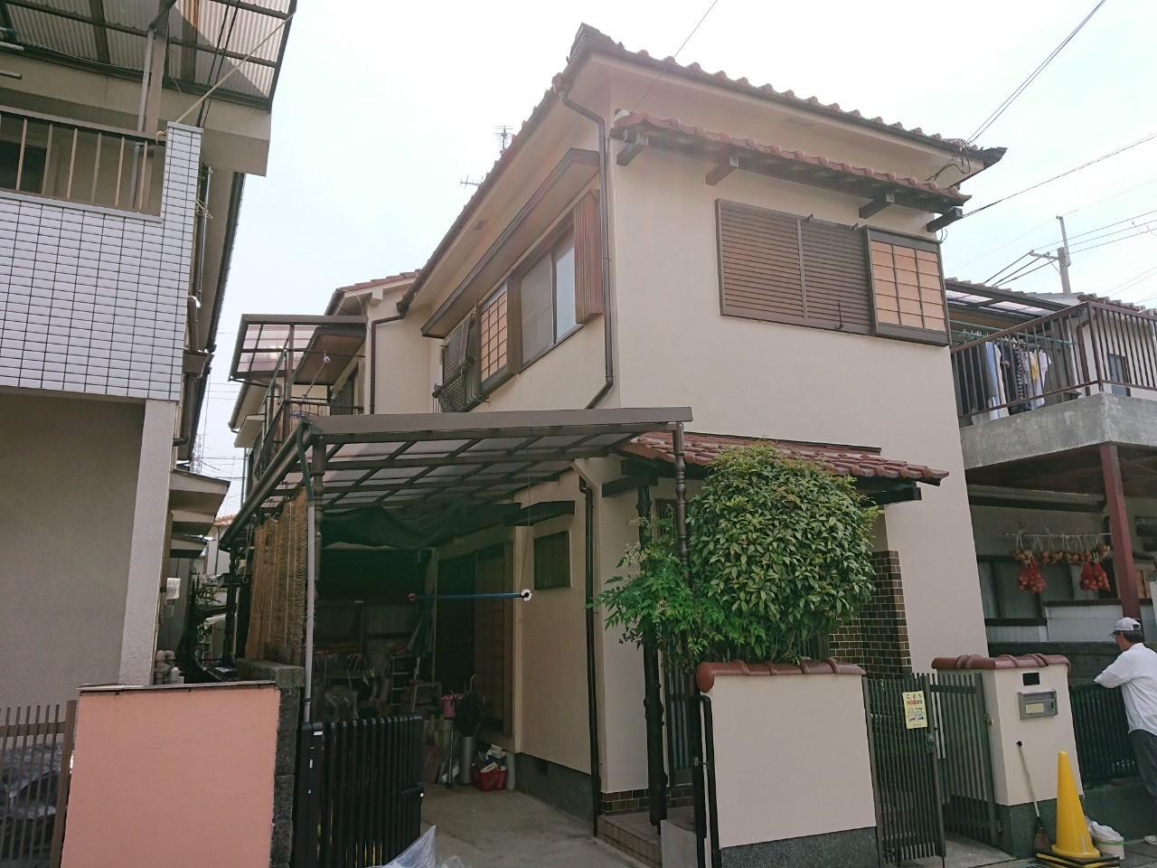 大阪府摂津市 住宅 外壁塗装工事