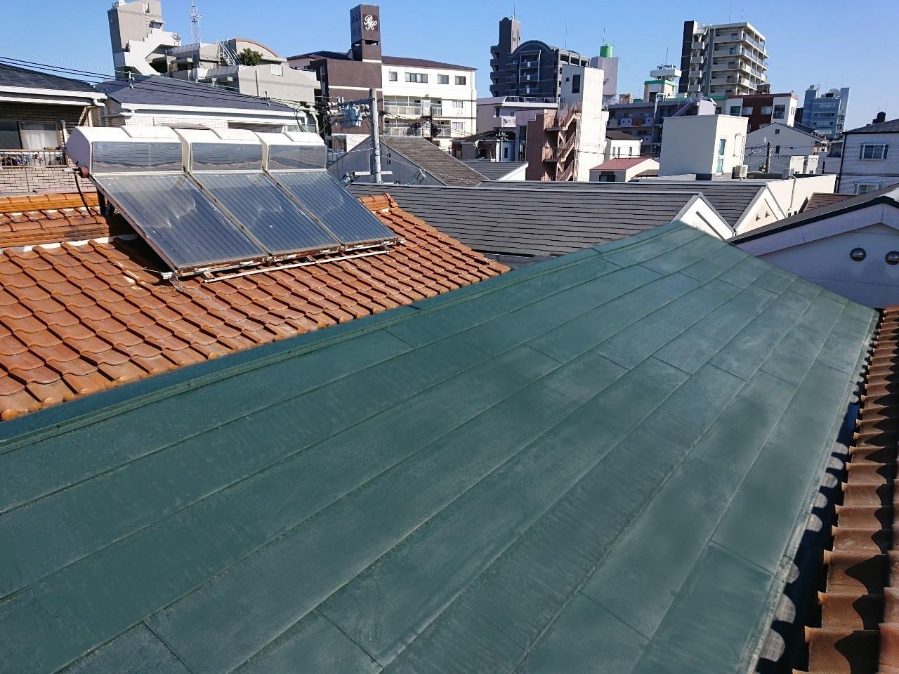 大阪市 東淀川区 住宅 屋根貼り替え工事  ガルバリウム鋼板屋根