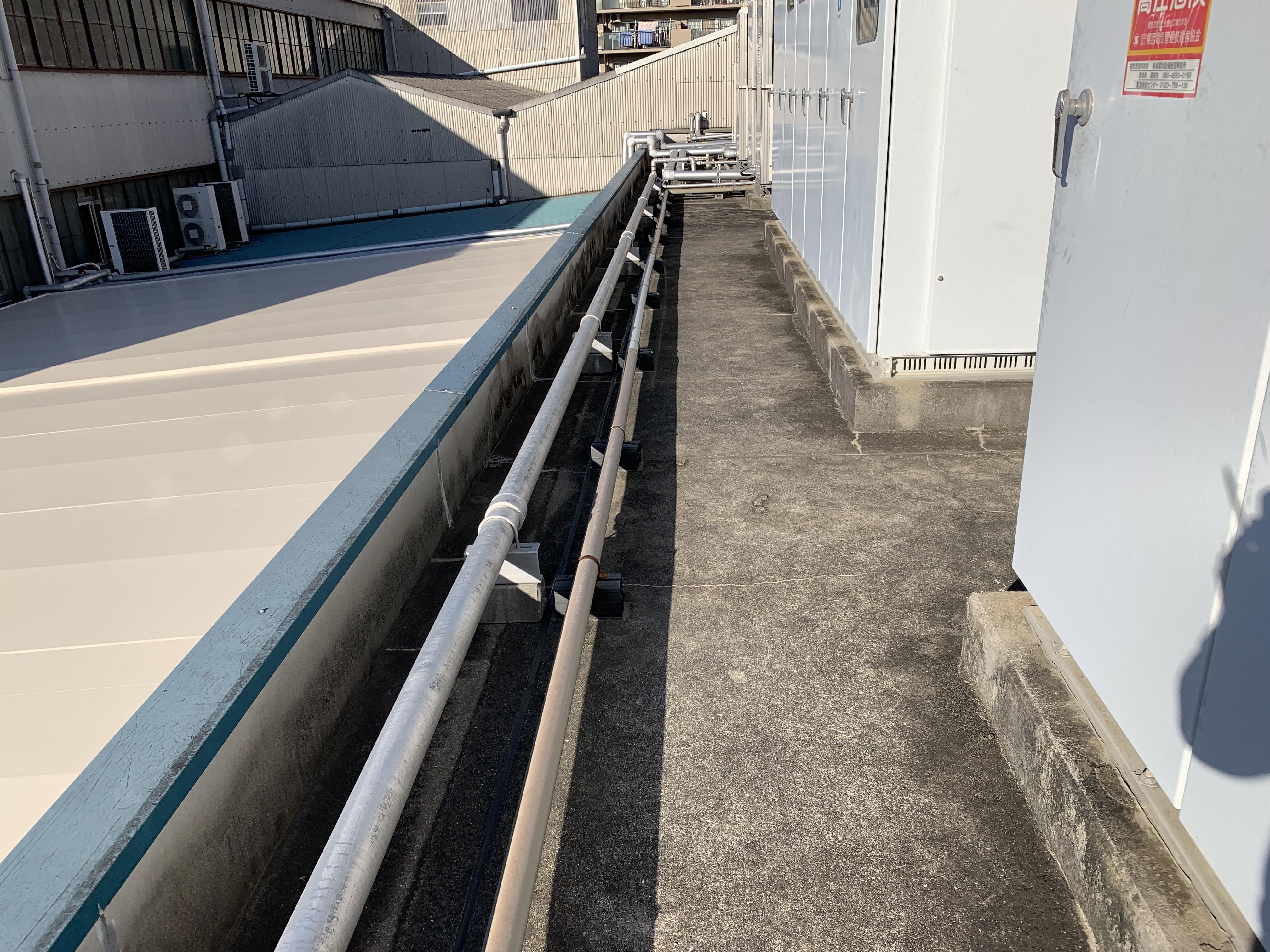 大阪市西淀川区 工場屋上 水漏れ調査